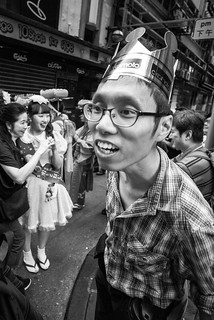 young man wearing a crown, Lan Kwai Fong Japan Carnival