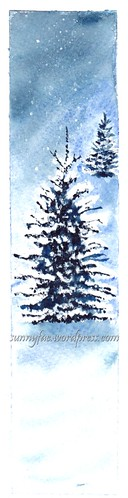 winter trees Maria Raczynska tutorial