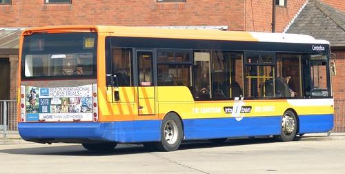 YJ10 EZC 'Centrebus' No. 777, 'THE GRANTHAM INTO it TOWN BUS SERVICE'. Optare Tempo X1130 /2 on Dennis Basford's railsroadsrunways.blogspot.co.uk'
