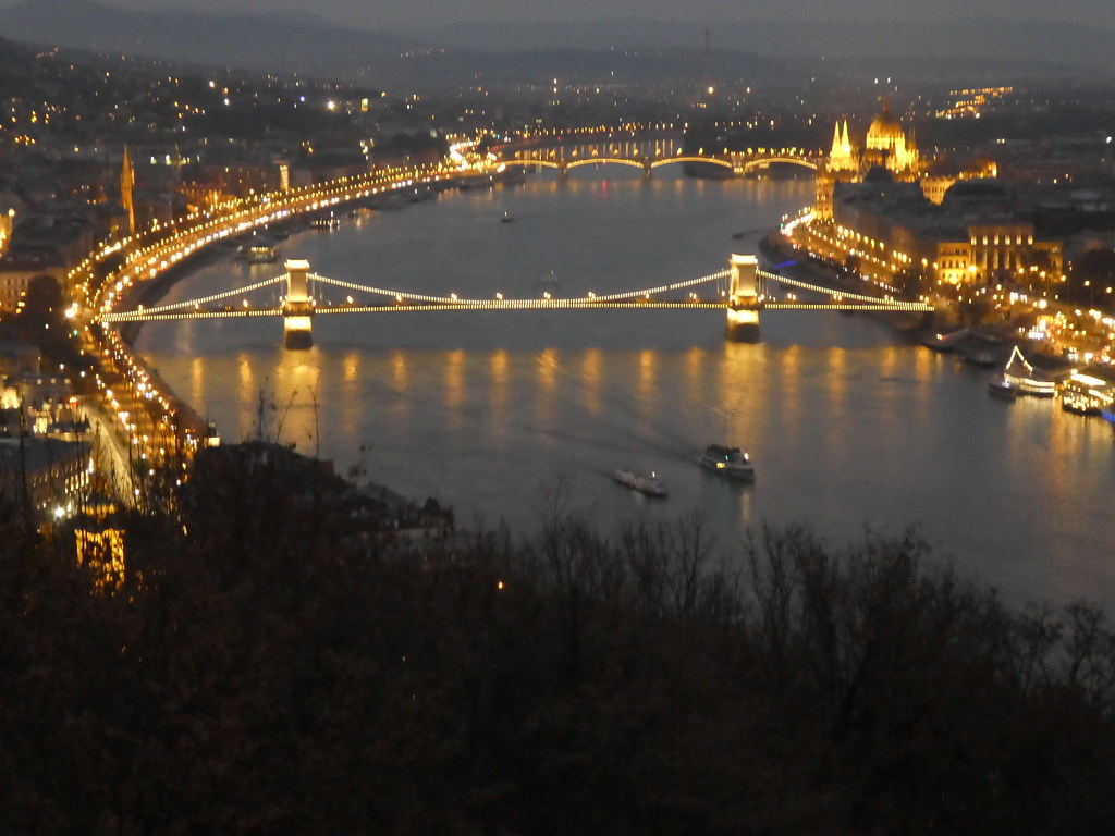 The Danube and its bridges from the Citadella viewpoint, Budapest