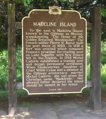 Madeline Island Marker (Bayfield County, Wisconsin)