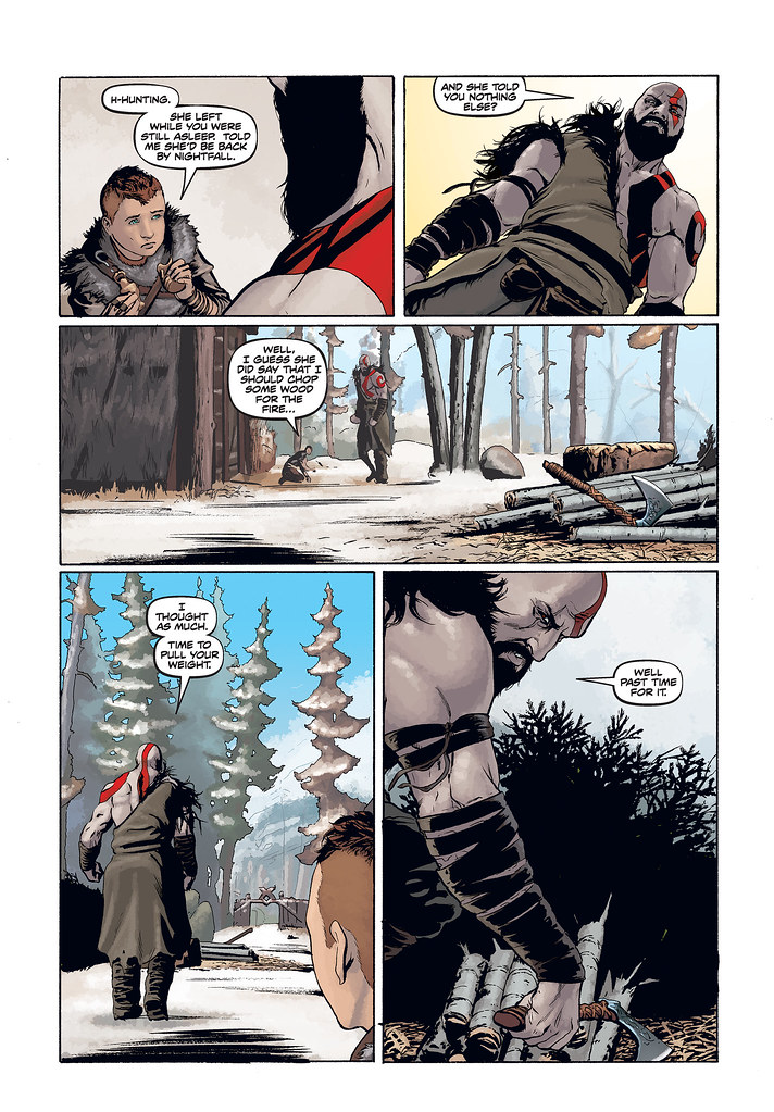 God of War prequel comic: Page 2