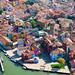 9. Vista aérea de Burano con las casitas de colores