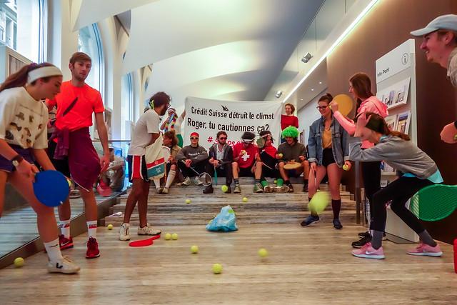 Action Roger Federer - Crédit Suisse