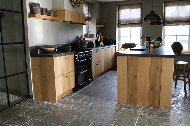 Houten keuken landelijke stijl