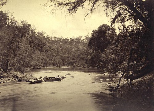 Going down the rapids in the upper reaches of the Brisbane River