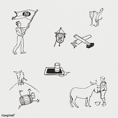 Woodcut icons by Julie de Graag (1877-1924). Original from The Rijksmuseum. Digitally enhanced by rawpixel.