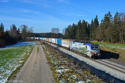 Lokomotion 193 773 als 41857 Köln Eifeltor - Triest in Amersberg