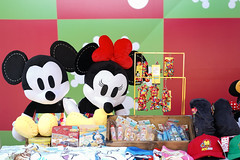 Bangkok, Thailand - Dec 5, 2018 : A photo of Disney merchandises on display at store with selective focus on Minnie Mouse plush doll. Disney's Endless Celebrations at King Power, free of entry event.