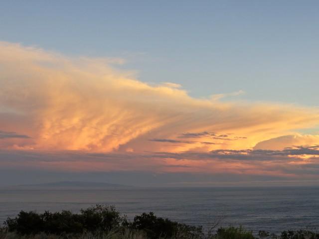 post-rain sunset
