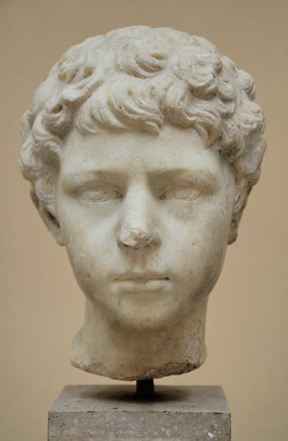 Lucius Verus as a child, Luna marble, from the Cardo Maximus, close to the Porta Laurentina, 2nd century AD, Ostia Antica, Italy