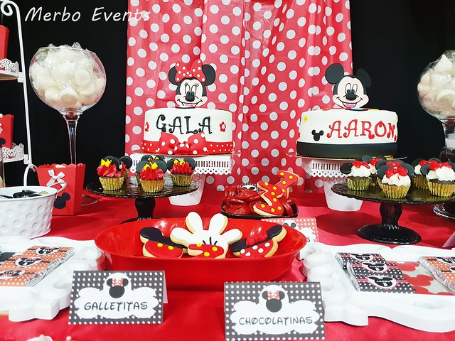 decoracion cumpleaños mickey y minnie Merbo Events