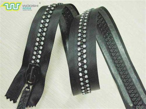 black nylon zipper