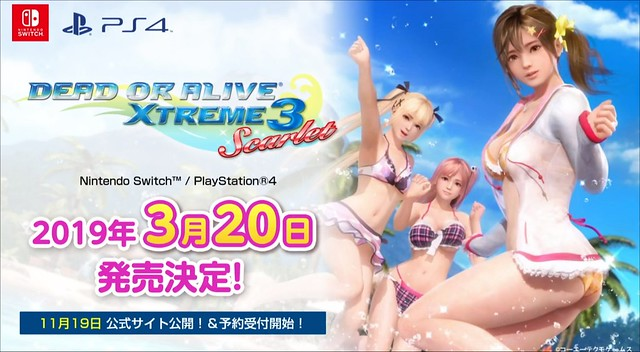 Dead or Alive Xtreme 3 Scarlet - Switch PS4