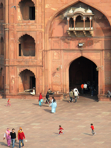 Jama Masjid, the Largest Mosque in Delhi, India