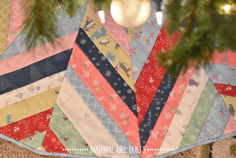 Sugarplum tree skirt by Amanda Castor of Material Girl Quilts {pattern by @evquilts in Issue 66 of Love Patchwork & Quilting}
