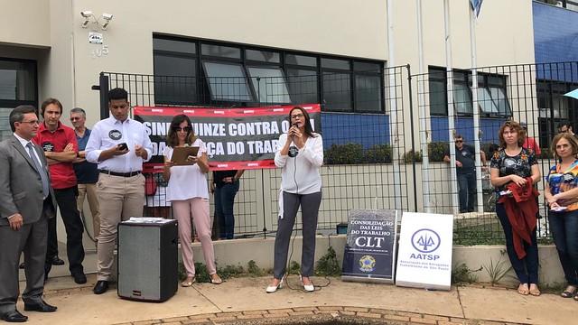 Ato em Defesa da Justi�a do Trabalho - Ribeir�o Preto - 05/02/2019