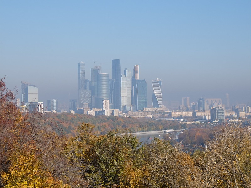 Москва - Воробьевы горы - Вид на Москва-Сити