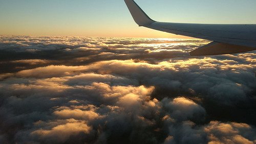 Sunset on the clouds