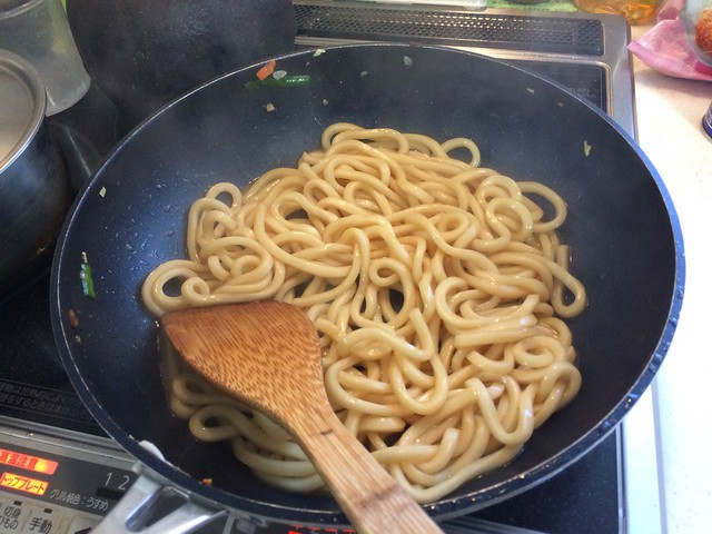 Grilled UDON pork with Chinese cabbage