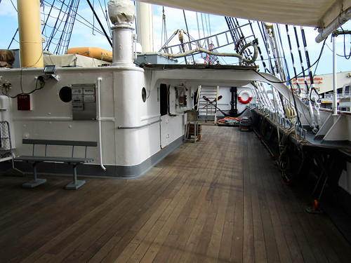 Deck of The Dar Pomorza in Gdynia, Poland