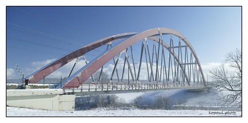 Bogenbrücke in Hauset/Belgien
