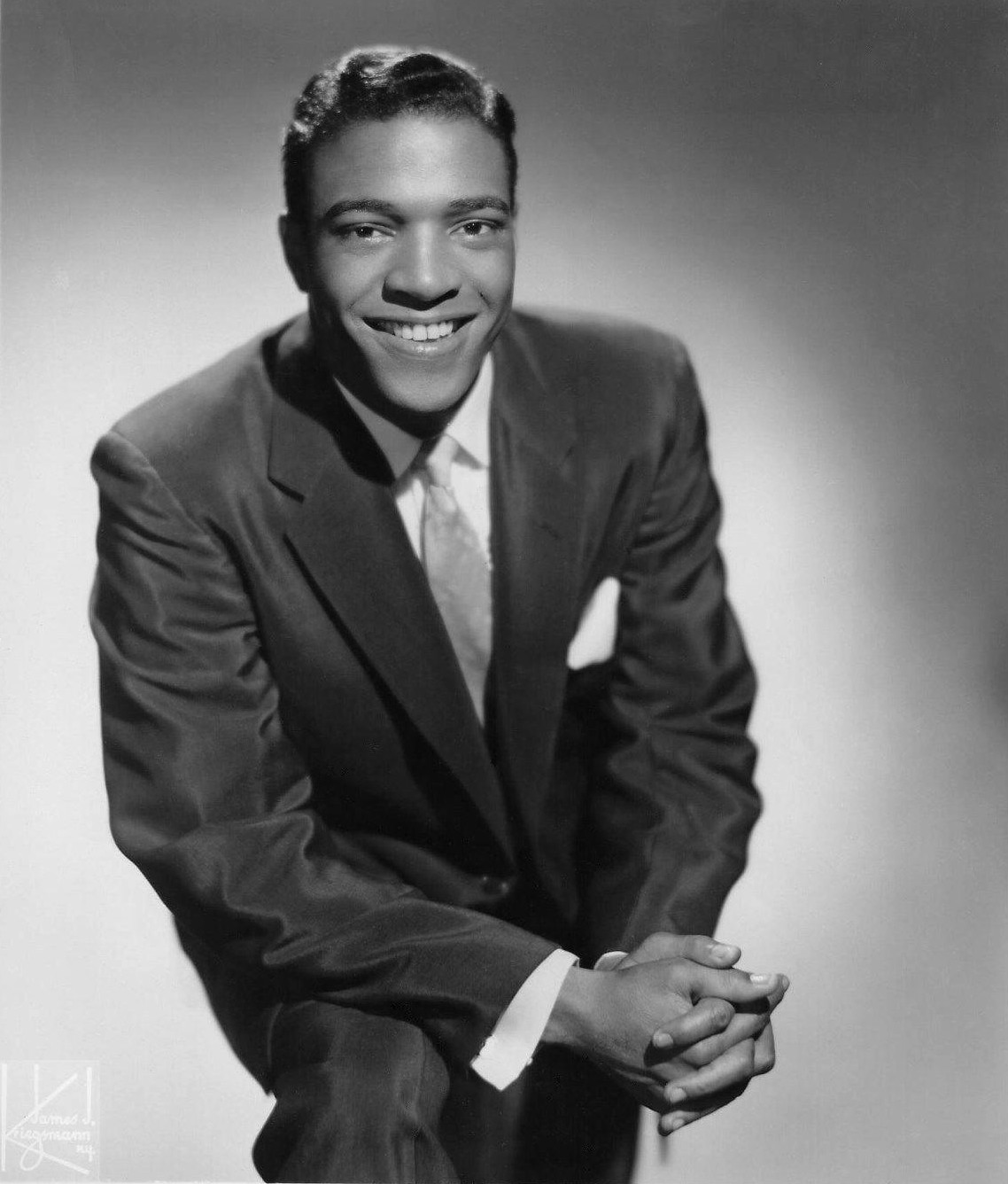 Photo of Clyde McPhatter taken on February 12, 1959, by Marvin Drager for General Artists Corporation.