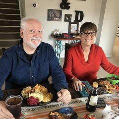 Natalie and Jack on Thanksgiving, 2018.