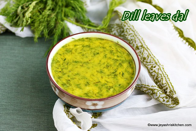 Dill leaves dal