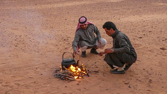 Bedouin tea ceremony in the Wadi Rum desert