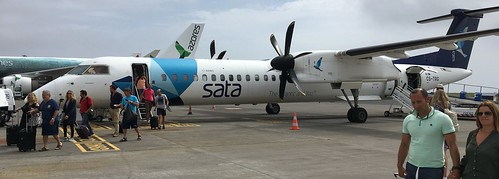 SATA Airplane at the Aeroporto João Paulo II de Ponta Delgada (Ponta Delgada, Açores)