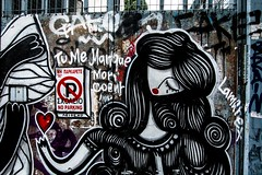Woman Graffiti, Athens, Greece