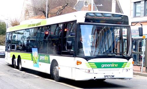 SP57 CNK 'Readingbuses' No.10 'greenline'. Scania Omnilink K170UB6 /1 on Dennis Basford's railsroadsrunways.blogspot.co.uk'