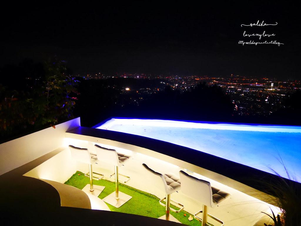 台北陽明山一日遊必吃必玩行程景點推薦THETOP屋頂上好吃景觀餐廳看夜景池畔 (9)
