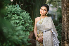 Ivory Thai traditional wedding dress