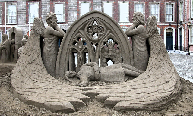 The Martyr - sand sculpture