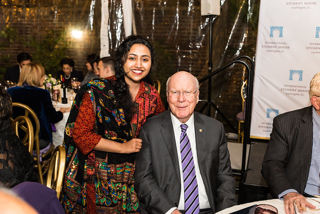 Varsha Thebo and Senator Leahy