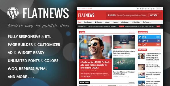FlatNews v3.8 – Responsive Magazine WordPress Theme