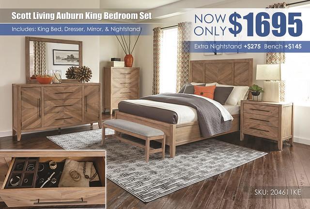 Scott Living Auburn King Bedroom Set_2014611KE