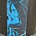 Blue Sticker Art, Manchester, NH by Robby Virus