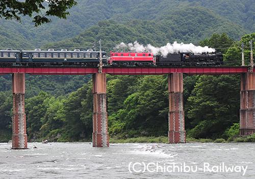 蒸電運転イメージ(2011年7月運行時)