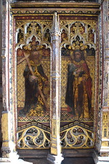 rood screen (north): St Philip and St Bartholomew (15th Century)