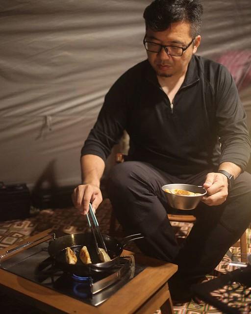 20181201 沒有炭火 戴門小火慢煎也在行 #歐北露 #campinglife #ilovecamping #campingfood #萬能的戴門 #愛妻視角