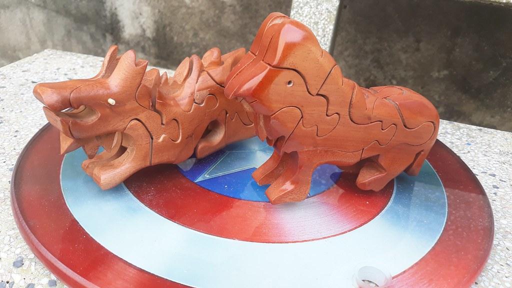 Đồ chơi thông mình bằng gỗ xếp:  hình con vật 3D GH-214