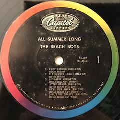 THE BEACH BOYS:ALL SUMMER LONG(LABEL SIDE-A)