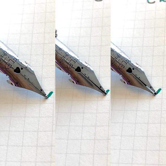 Conklin Empire Stardust Blue Fountain Pen with OmniFlex Nib 2
