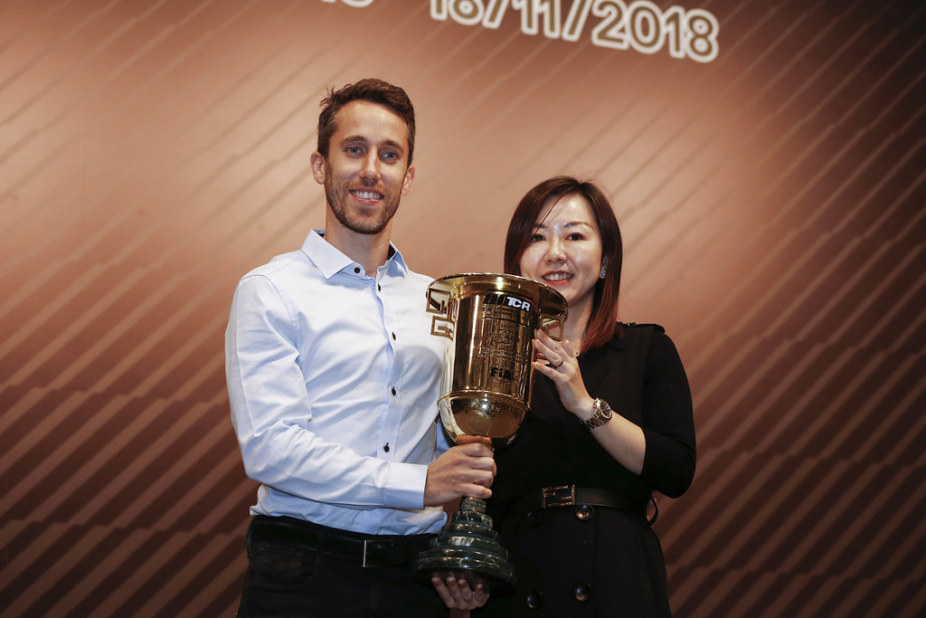 GUERRIERI Esteban, (arg), Honda Civic TCR team ALL-INKL.COM Munnich Motorsport, portrait prize giving ceremony  during the 2018 FIA WTCR World Touring Car cup of Macau, Circuito da Guia, from november  15 to 18 - Photo Francois Flamand / DPPI