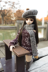 Hanako and Fountain Bench 1