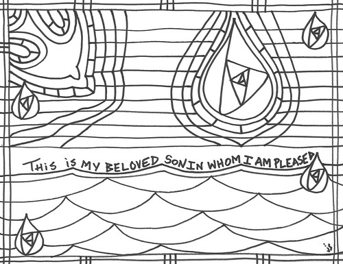 baptism coloring sheet
