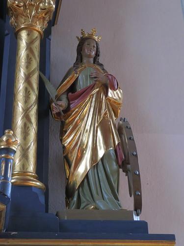 20170929 02 517 ostbay Rattenberg Kirche Statue Katharina